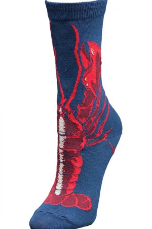 Lobster Wild Habit Unisex Crew Socks Side View