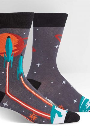 Launch from Earth Men's Dress Crew Socks