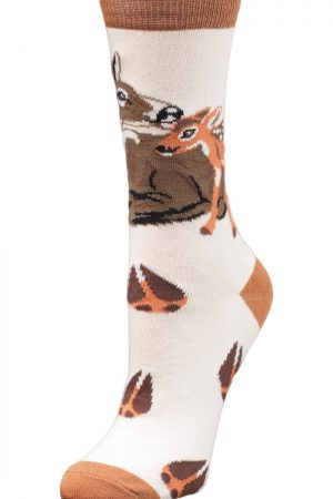 Forest Deer Love Wild Habitat Unisex Socks SideView