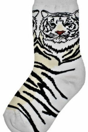 White Tiger Wild Habitat Unisex Socks Front View