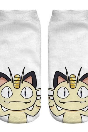 Meowth Anime Pokemon Low Cut Ankle Socks