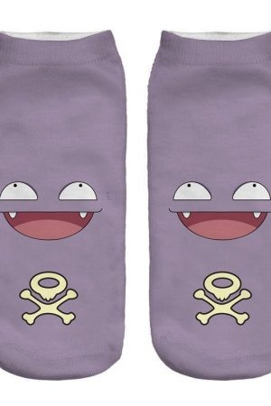 Koffing Ankle Socks Anime Pokemon Low Cut