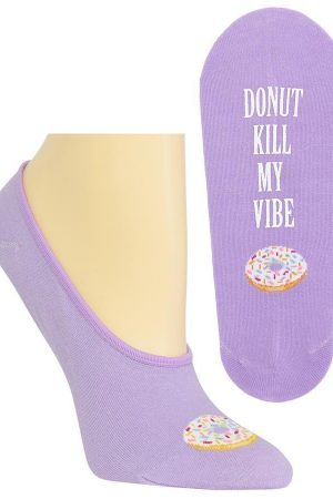 Donut Kill My Vibe Hot Sox Foot Liner Socks