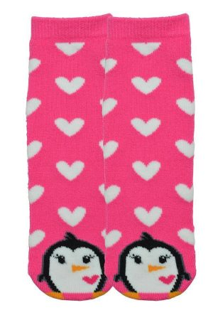 Penguin K Bell Kid Tube Non-Skid Slipper Socks