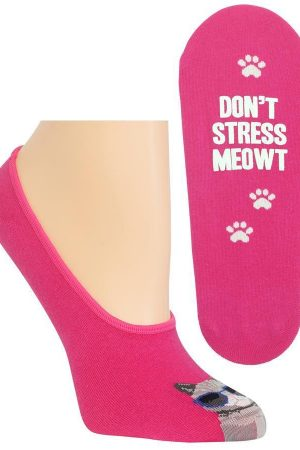 Don't Stress Meowt Hot Sox Foot Liner Socks