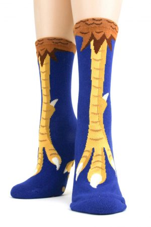 Chicken Feet Foot Traffic Non-Skid Slipper Socks