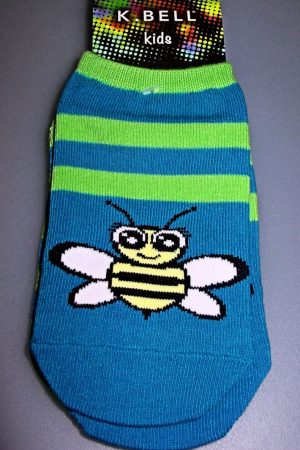 Bee Stripe K Bell No-Show Youth Socks 2-pair Pkg