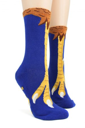 Chicken Feet Foot Traffic Non-Skid Slipper Socks Side