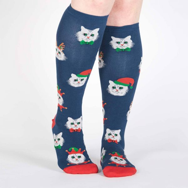 Santa Claws Stretch-It™ Knee Hi Socks Front