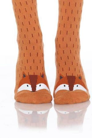 Foxy Fox Foot Traffic Slipper Socks Non-Skid