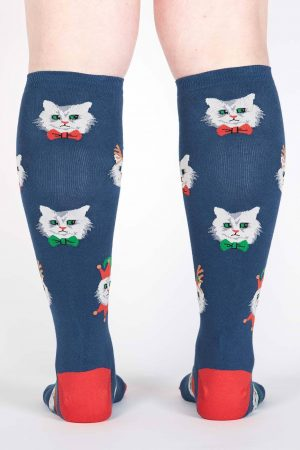 Santa Claws Stretch-It™ Knee Hi Socks Back