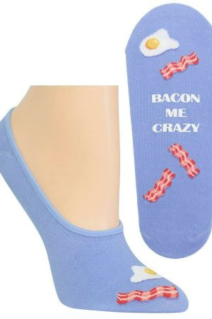 Bacon Me Crazy Hot Sox Foot liner Socks