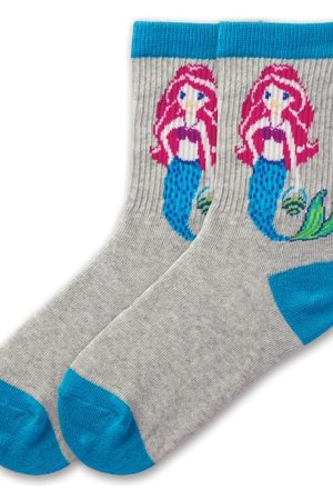 Mermaid K Bell Kids Crew Socks