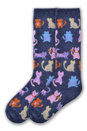 Colorful Kitties K Bell Youth Knee High Socks