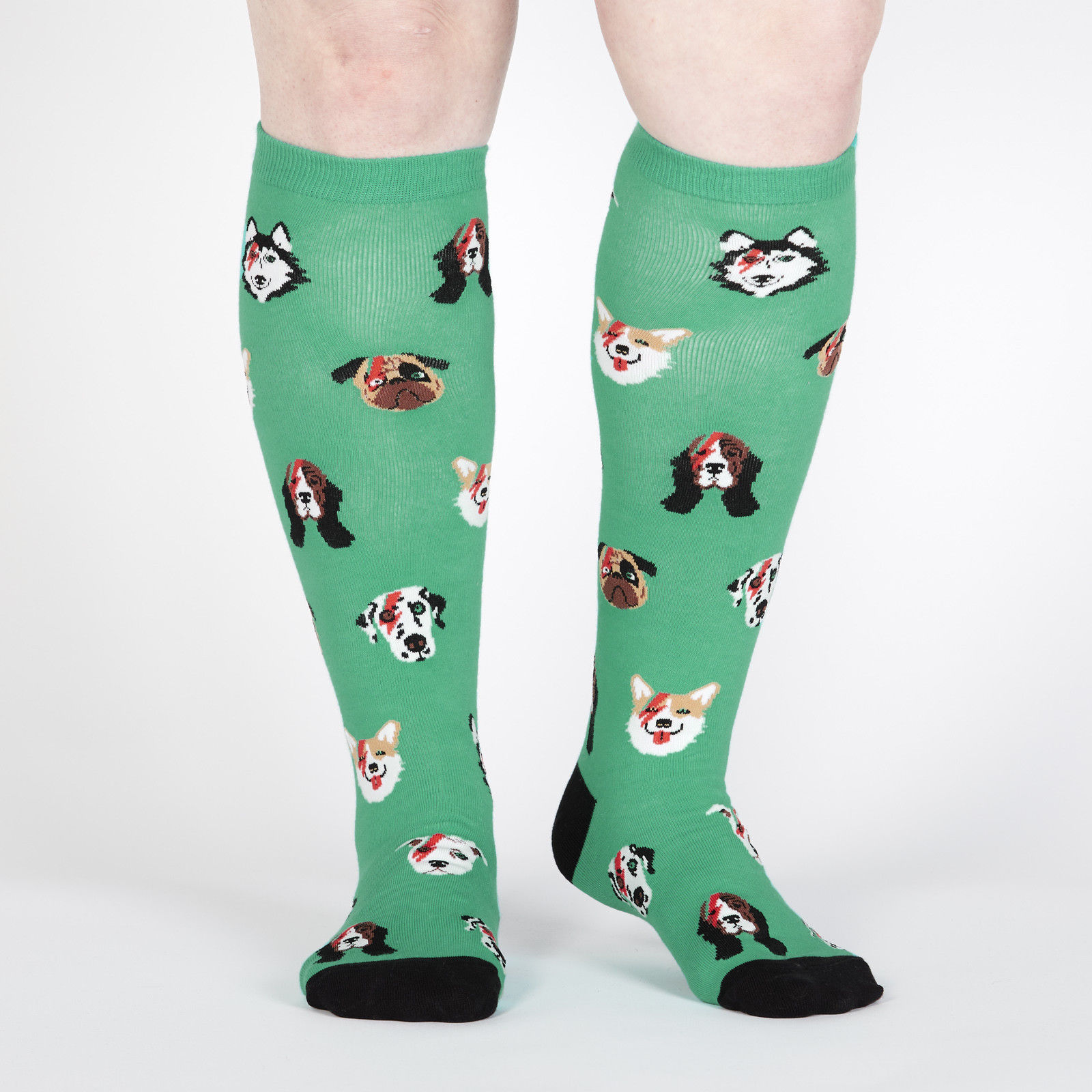 Dogs of Rock Stretch-It™ Knee Hi Socks Front