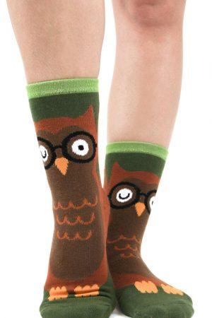 Owl Foot Traffic Slipper Socks Non-Skid