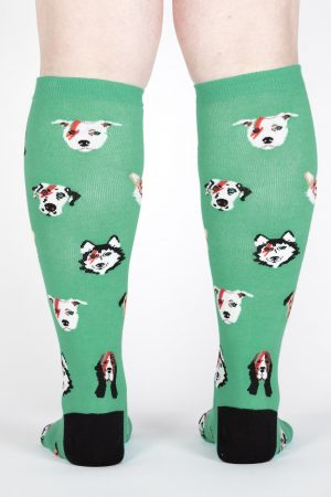 Dogs of Rock Stretch-It™ Knee Hi Socks Back
