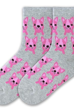 Dog Pups K Bell Kids Crew Socks
