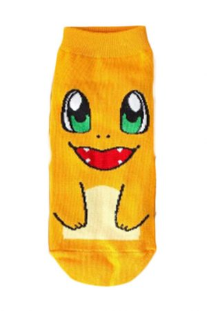 Charmander Anime Pokemon Low Cut Ankle Socks Stitched