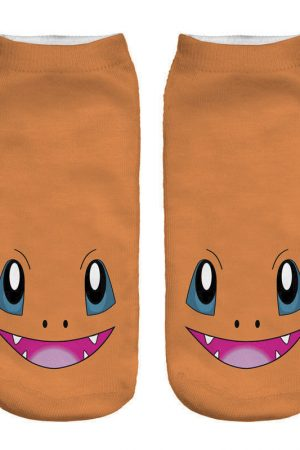 Charmander Ankle Socks Anime Pokemon Low Cut