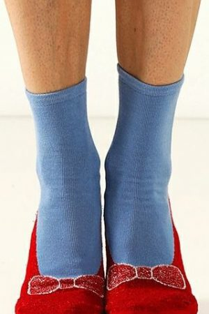 Magic Ruby Red Foot Traffic Slipper Socks Non Skid