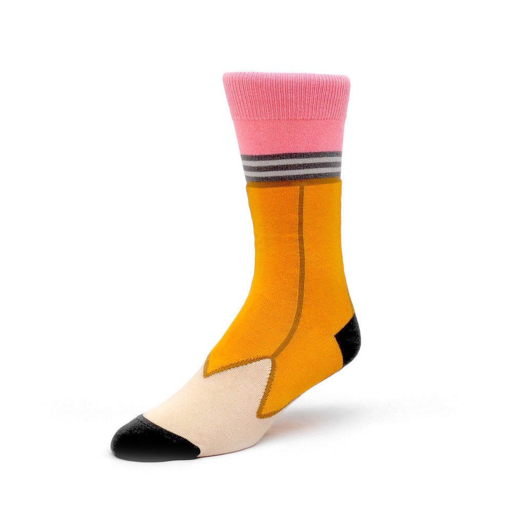 Pencil Ashi Dashi Mid Calf Crew Socks