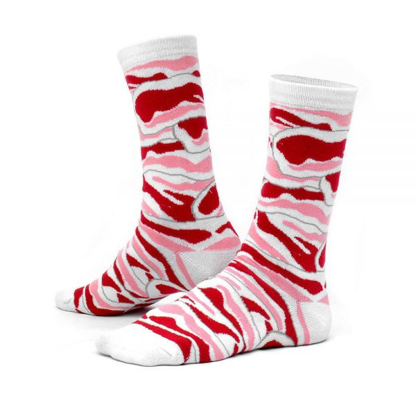 Bacon Ashi Dashi Mid Calf Crew Socks