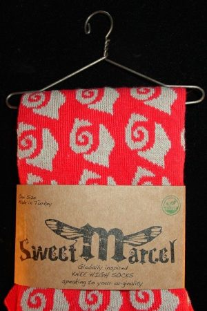 Coral Ann Sweet Marcel Knee High Socks Detail