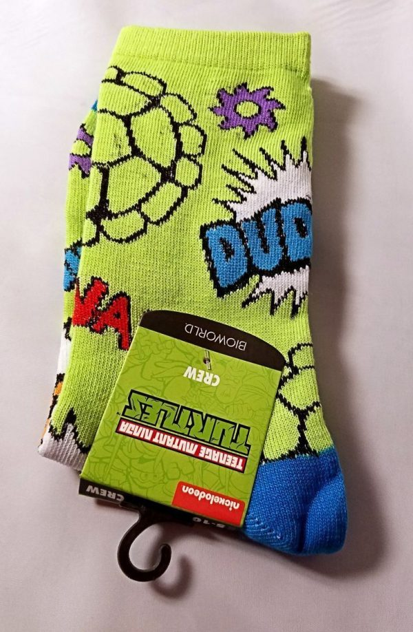 Teenage Mutant Ninja Turtle All Over Print Crew Socks
