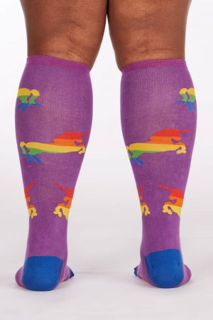 Pride & Fab Unicorn Stretch-It™ Knee High Socks Back