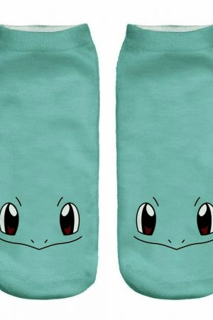 Squirtle Ankle Socks Anime Pokemon Low Cut