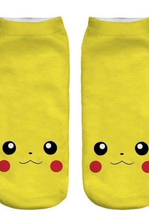 Pikachu Face Anime Pokemon Low Cut Ankle Socks