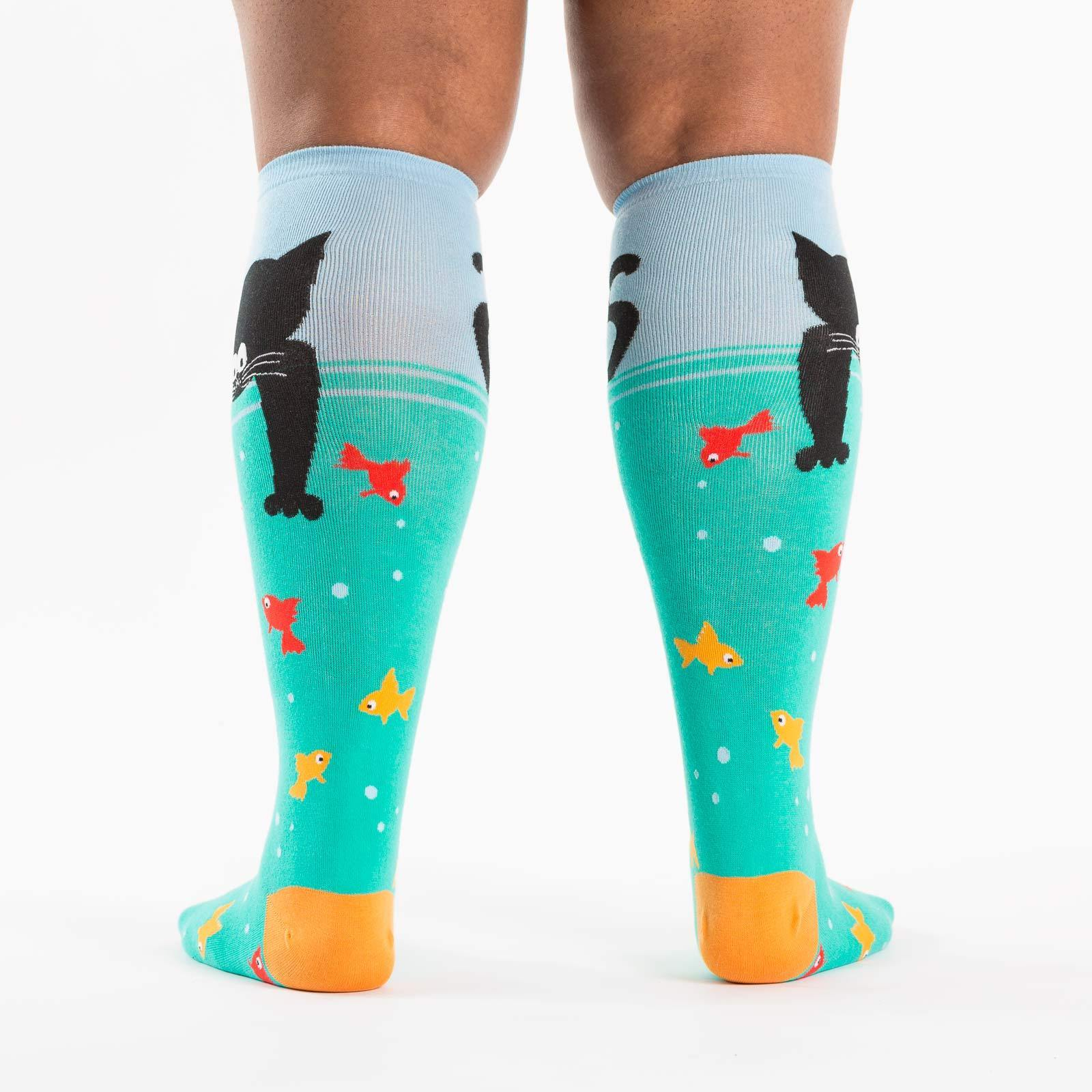 Gone Fishin Stretch-It™ Knee High Socks Back
