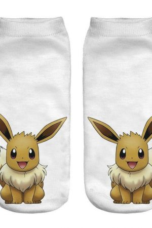 Evee Anime Pokemon Low Cut Ankle Socks