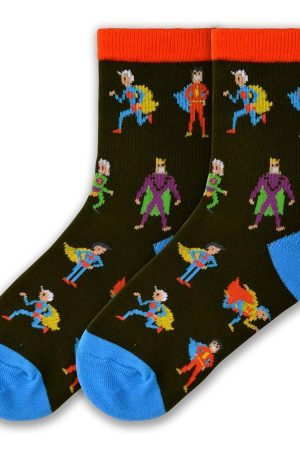 Super Heroes K Bell Kids Crew Socks