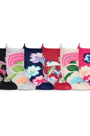 Botanical Florals K Bell No Show Socks 6-Pair Pkg