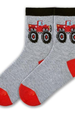 Big Truck K Bell Kids Crew Socks