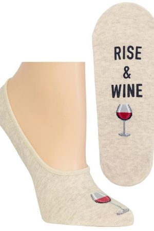 Rise and Wine Hot Sox Foot liner Socks