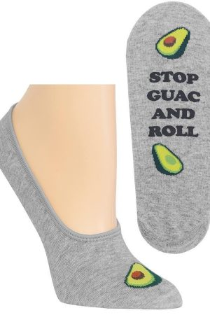 Stop Guac & Roll Hot Sox Foot liner Socks