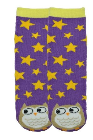 Owl K Bell Kids Tube Non-Skid Slipper Socks