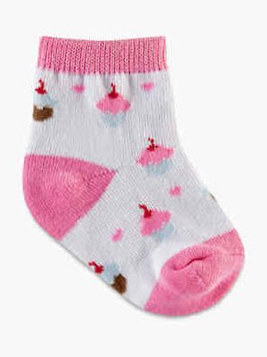 Infant Pink 4-Pair Pkg Youth Socks