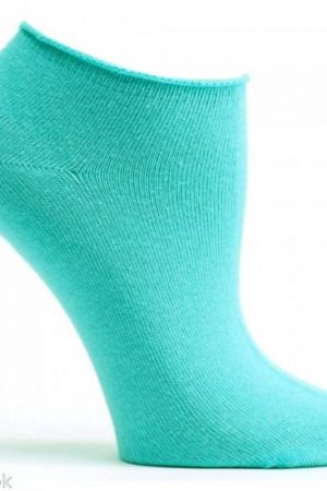 Aqua Blue Ozone No Show Ankle Socks
