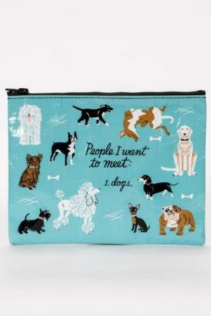 People I'd Like to Meet: Dogs Blue-Q Standard Pouch