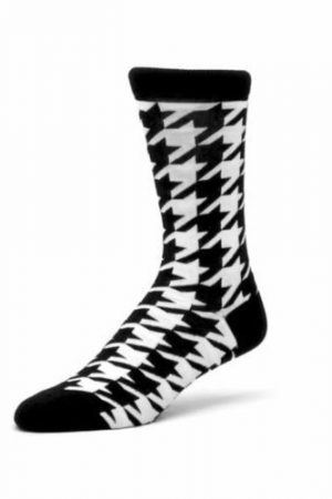 Houndstooth Ashi Dashi Mid Calf Crew Socks
