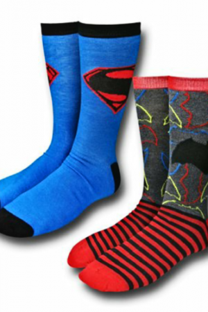 Batman Vs Superman Crew Sock 2-Pair Pkg