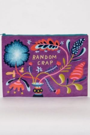 Random Cr*p Blue-Q Zipper Jumbo Pouch