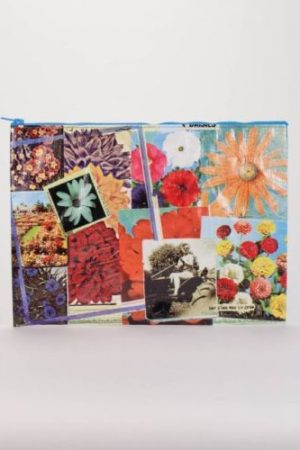 Flower Garden Blue-Q Zipper Jumbo Pouch