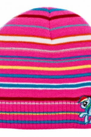 My Little Pony Rainbow Dash Stripe Knit Beanie Hat