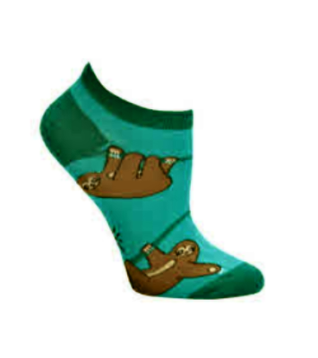 Sloths No Show Ankle Socks