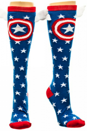 Captain America Star Knee High with Wings